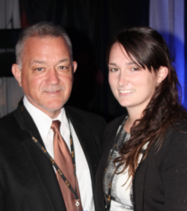 Sen. David Brinkley with daughter Margaret at Cavalia in October 2013.
