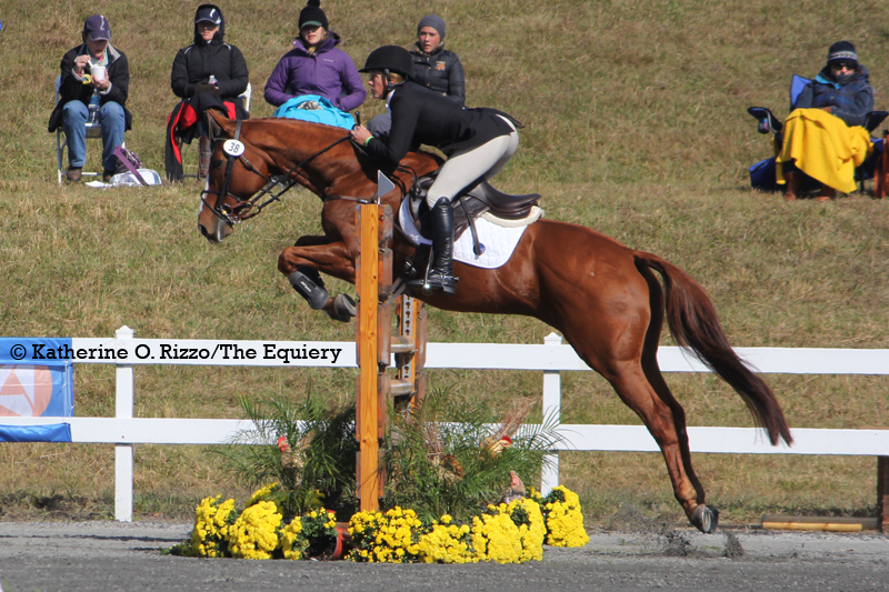 Katie Wherley and Mr Indiscretion finish as the highest placing Maryland pair in the CCI2*