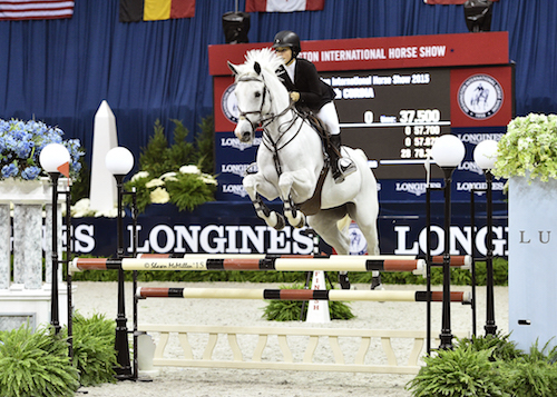 Former WIHS Youth Ambassador Mary Elizabeth Cordia finished second in the $10,000 WIHS Children's Jumper Championships