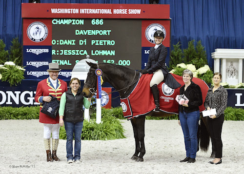 Jessica Lohman and Davenport won the $10,000 WIHS Adult Hunter Championship