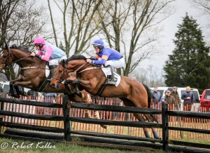 Class Brahms (orange/purple silks) won the Edward S. Voss Memorial Open Timber at Elkridge-Harford with Gustav Dahl up for owner Rosbrian Farm and trainer Tara Elmore © Bob Keller