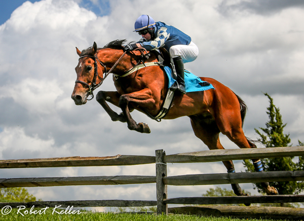 James Slater and Black Pond (owner/trainer Michael Leaf) won the Howard County Hunt Cup Open Timber
