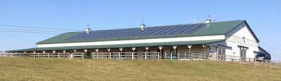 Rita Simpson (Holiday Stables) reported her panels should be paid off in five years after installation and has already seen over $1,000 in savings for the farm's monthly electric bill.