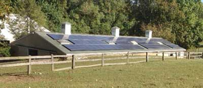 LuAnne Levens (Periwinkle Farm) expects to see a 25% reduction on her electric bill from the solar panels on her barn.