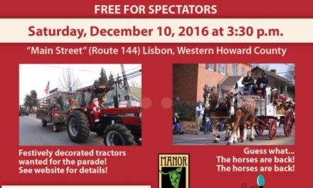 Horses & Tractors this Saturday in The Great Lisbon FARMERS FEED THE HUNGRY Christmas Parade