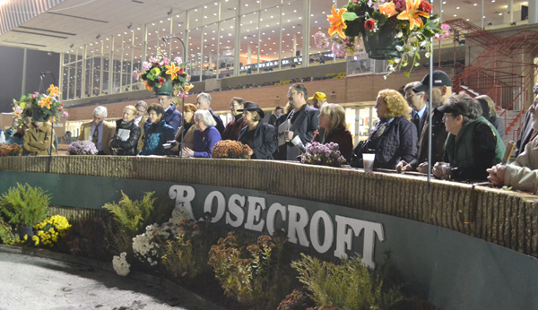 Maryland Horse Industry Board members and guests in the renovated grandstand at Rosecroft Raceway last fall
