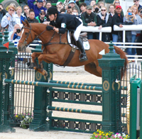 Daniel Clasing aboard the Maryland-bred Houston at the 2013 Rolex Kentucky Three-Day Event ©Ron Abrams