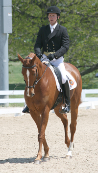 Dan and Houston in dressage warm-up at this year's Rolex Kentucky CCI****