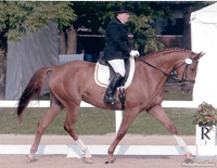 Dorie competing Froelich at the 2006 Young Horse Championships in Kentucky ©Phelps Photos