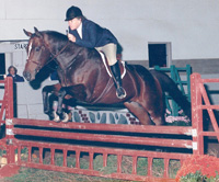 Dorie and her show hunter Taylor Made competing in Middleburg at the WIHS Local Day at Paper Chase (now Fox Chase)