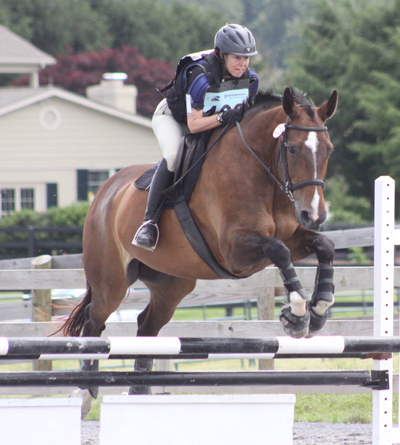 "My main concern with the [-- USEA] calendar is that it needs to be reviewed with an eye towards the bulk of competitors, amateurs competing at Training and below..."" - Nancy Seybold (Washington, DC), shown here competing at Waredaca"