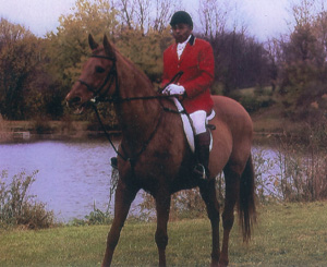 Leonard with his current horse Blue, who was bought for him by several members of the Potomac Hunt