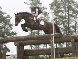 Kate Chadderton and her OTTB Collection Pass competing in Southern Pines this spring