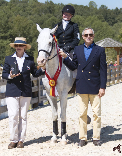 Tayler and Biz - Reserve Champions at the 2011 American Eventing Championships in Junior Beginner Novice