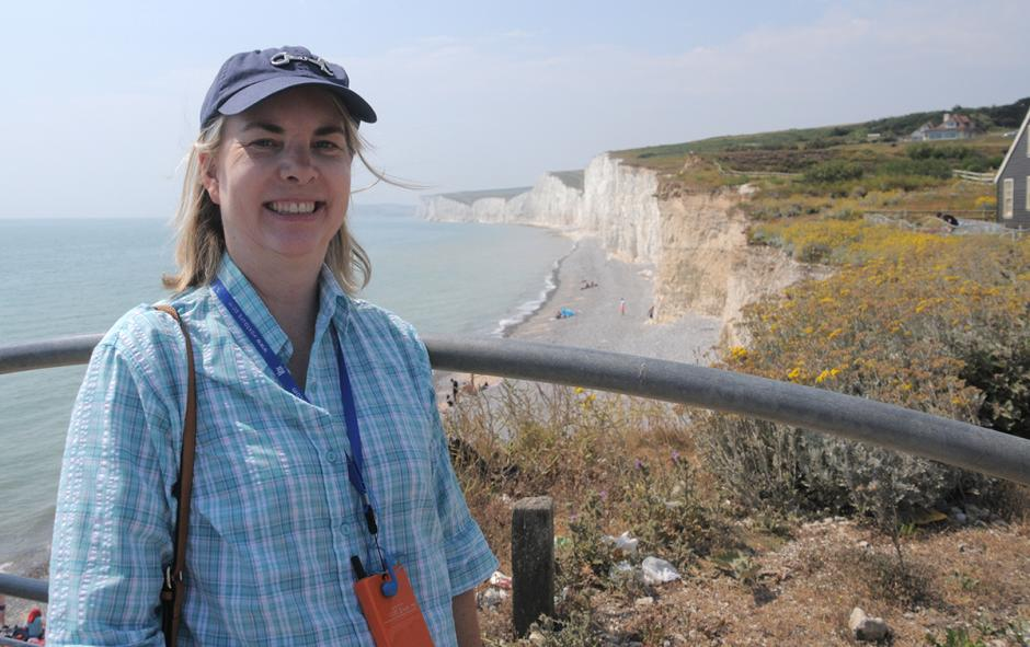 Beth Collier at Birling Gap, southern England