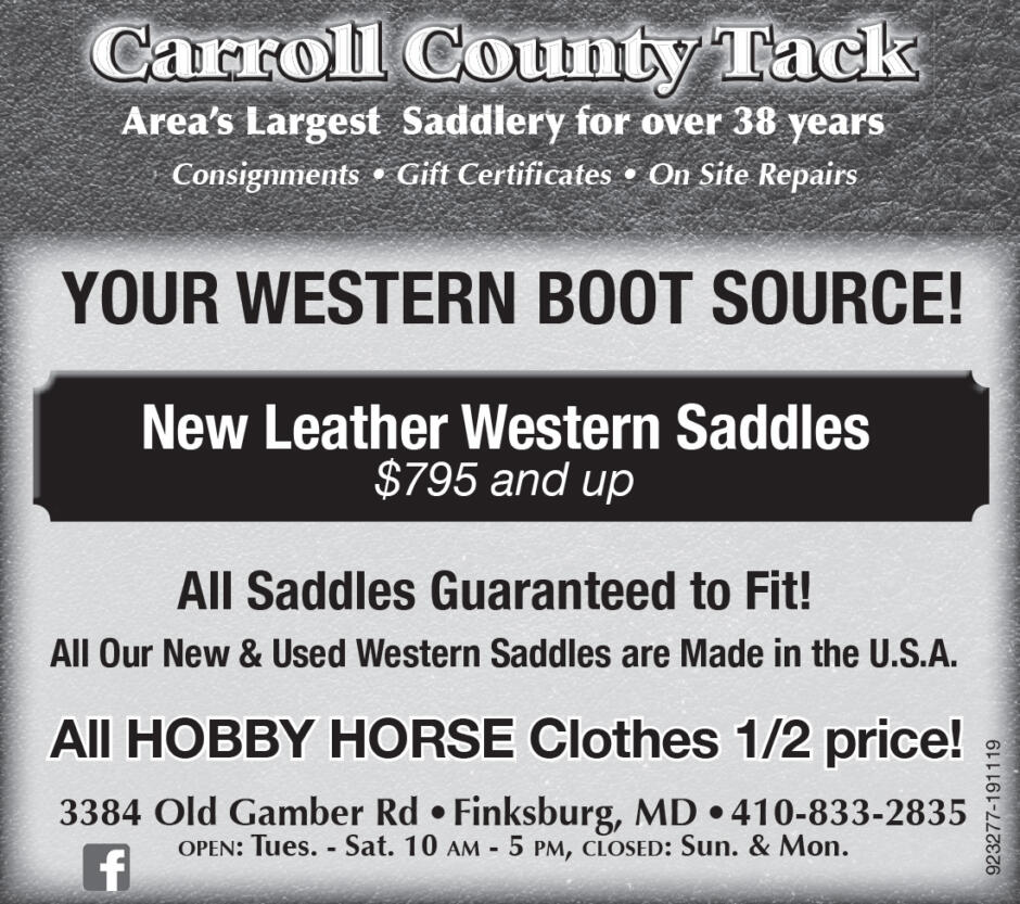 Carroll County Tack